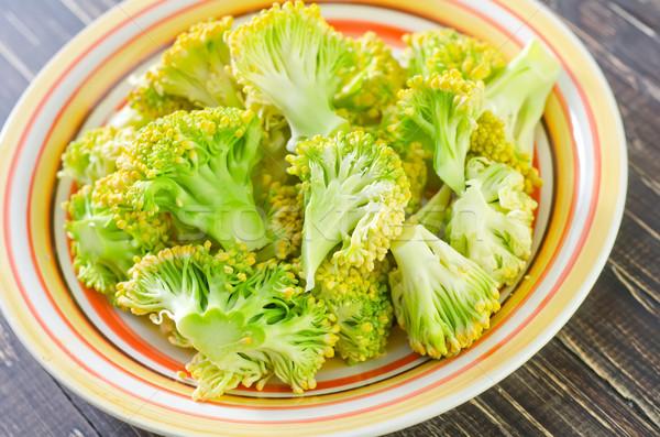 Brokkoli tányér természet zöld élet szín Stock fotó © tycoon