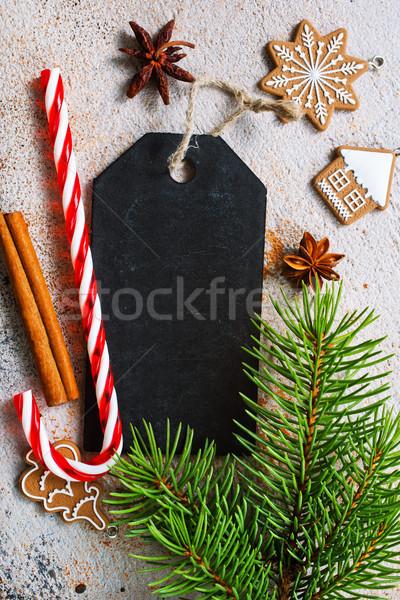 Stock fotó: Karácsony · süti · étel · bor · szív · tél