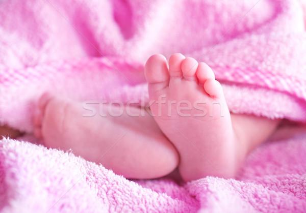 赤ちゃん 足 家族 天使 母親 生活 ストックフォト © tycoon