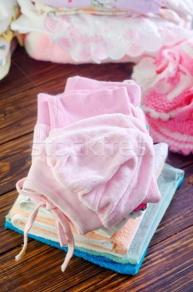 Photo stock: Bébé · vêtements · fille · enfant · tissu · jouet