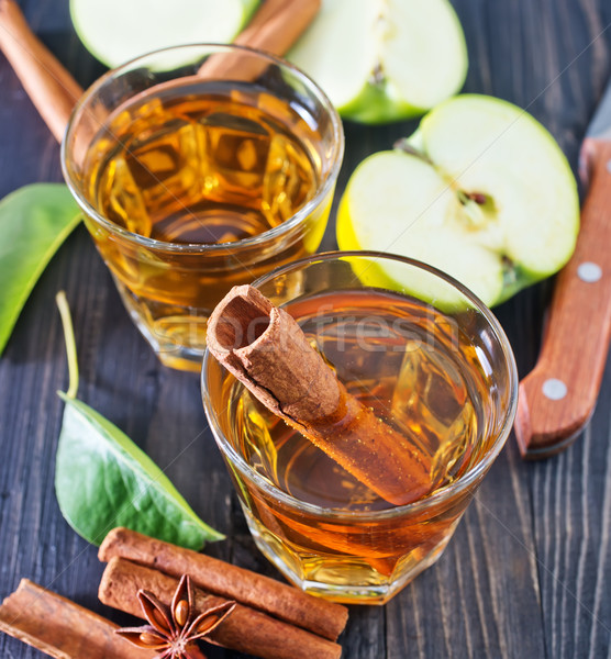 Pomme cidre cannelle verre nature fruits Photo stock © tycoon