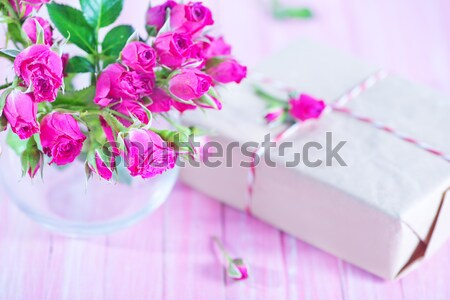 Presentes caixas flor casamento amor feliz Foto stock © tycoon