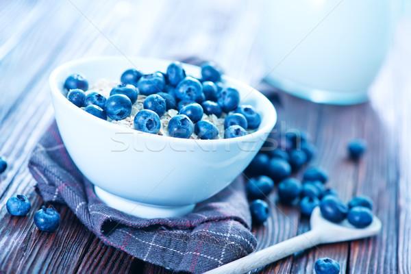 Stockfoto: Haver · ruw · witte · kom · gezondheid