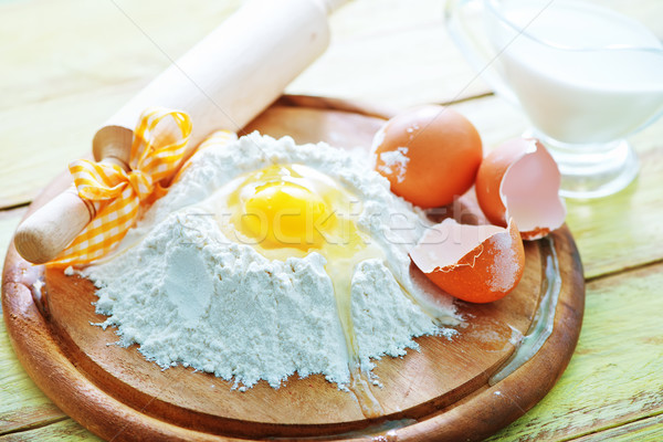 flour and raw eggs Stock photo © tycoon