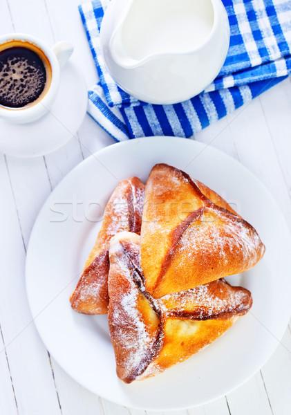 Tömés csoport vacsora tojások reggeli eszik Stock fotó © tycoon