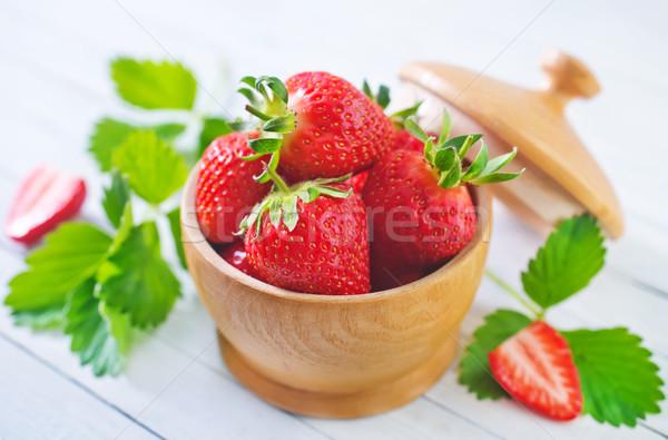 Stock fotó: Eper · étel · terv · tányér · reggeli · klasszikus