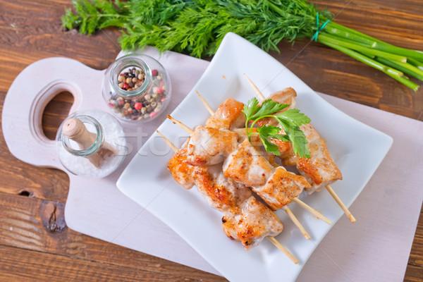 ケバブ 食品 プレート 肉 調理 食べる ストックフォト © tycoon