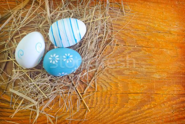 Huevos de Pascua alimentos feliz diseno huevo fondo Foto stock © tycoon