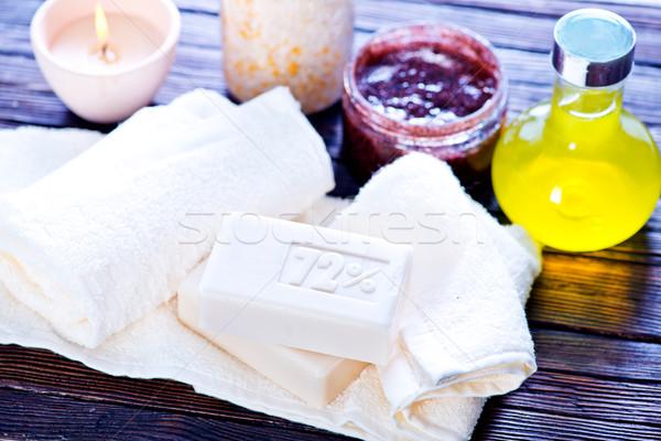 Spa objecten zeep aroma zout tabel Stockfoto © tycoon