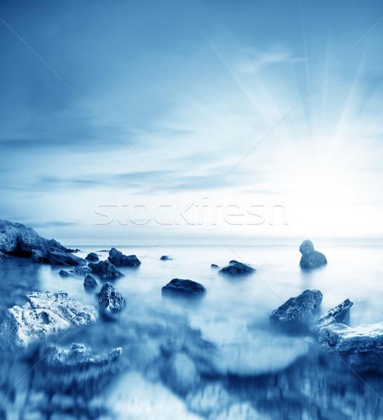 Lenmag tenger tengerpart égbolt nap fény Stock fotó © tycoon