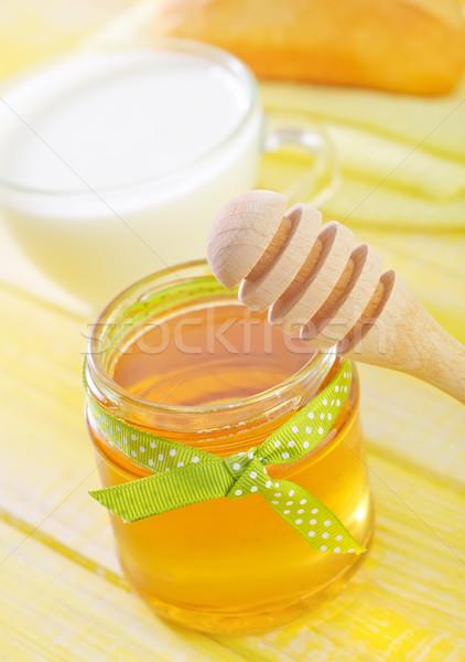 Mel natureza vidro saúde jantar ouro Foto stock © tycoon