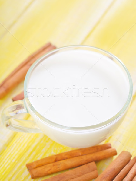 Süt tarçın gıda içmek yeme sıvı Stok fotoğraf © tycoon