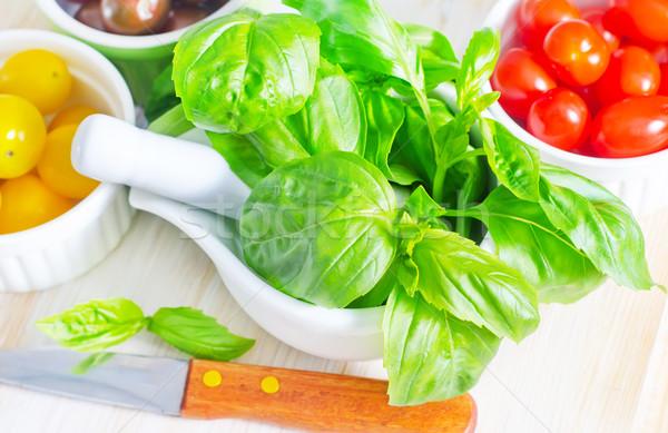 basil and tomato Stock photo © tycoon