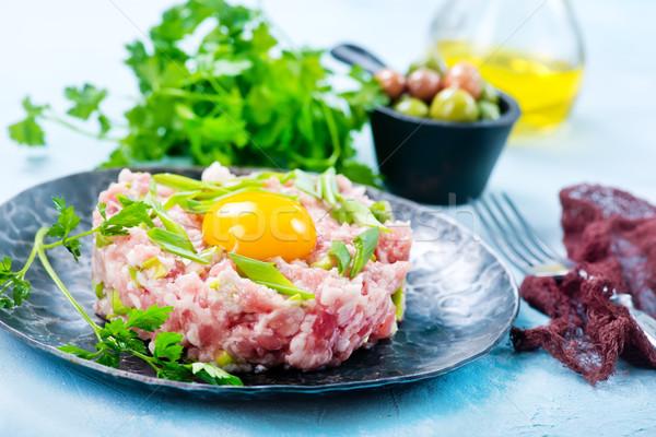 Et baharat yumurta sarısı gıda yumurta Stok fotoğraf © tycoon