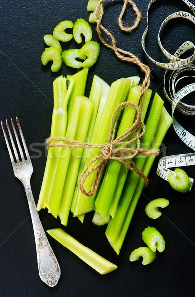 Céleri brut noir table fraîches alimentaire Photo stock © tycoon