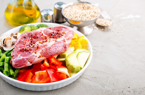raw ingredients for dinner Stock photo © tycoon
