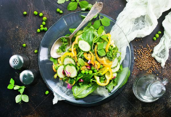 Salata sebze yağ tuz taze bahar Stok fotoğraf © tycoon