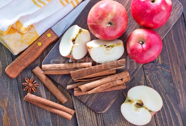 リンゴ シナモン 木材 リンゴ デザイン グループ ストックフォト © tycoon