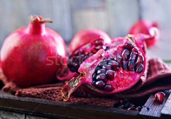 гранат салфетку таблице природы фрукты фон Сток-фото © tycoon