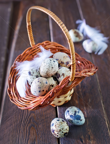 raw quail eggs Stock photo © tycoon