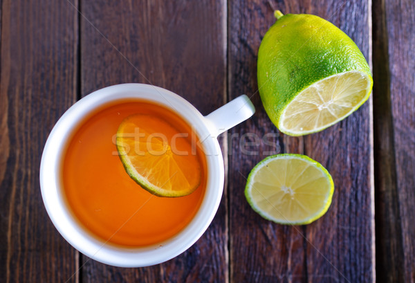 tea with lemon Stock photo © tycoon