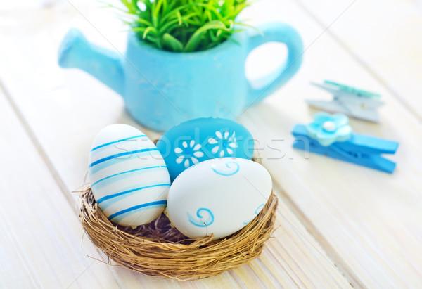 Stok fotoğraf: Paskalya · yumurtası · Paskalya · bahar · dizayn · tablo · yeşil