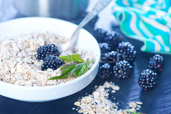 oat flakes and blackberry Stock photo © tycoon