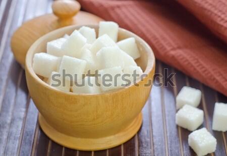 Suiker drinken Rood eten zoete schotel Stockfoto © tycoon