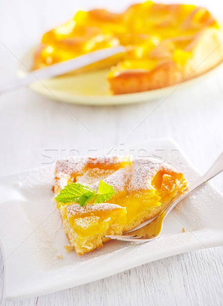 pie with peach Stock photo © tycoon