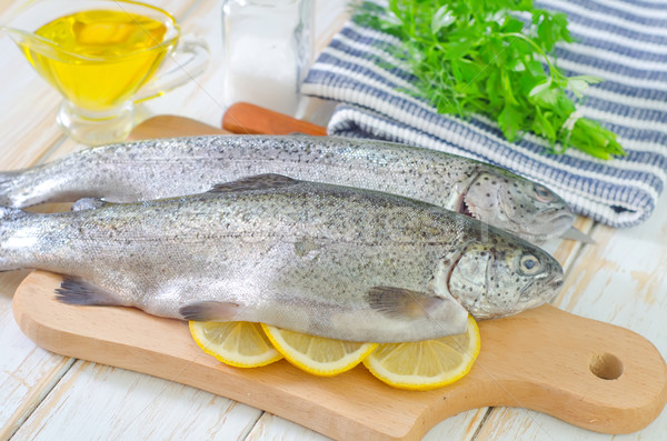 Stock foto: Fisch · Essen · Auge · Fleisch · jungen