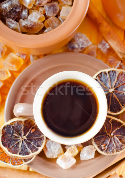 Сток-фото: кофе · синий · пить · черный · рынке · специи