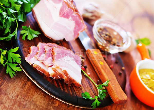 smoked lard Stock photo © tycoon