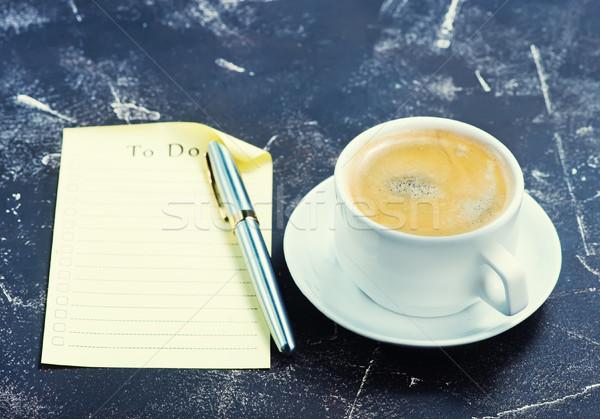 Caffè tazza di caffè business design cioccolato matita Foto d'archivio © tycoon