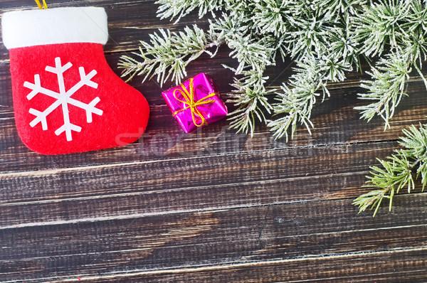 Karácsony dekoráció textúra fa fa zöld Stock fotó © tycoon