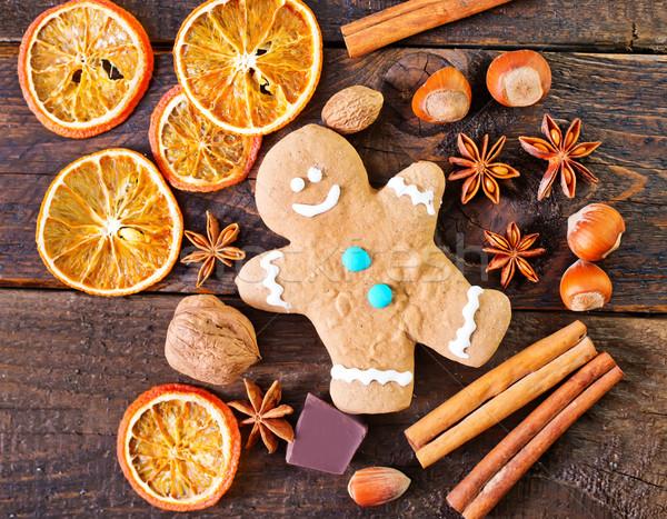 Süti aroma fűszer fa asztal étel fa Stock fotó © tycoon