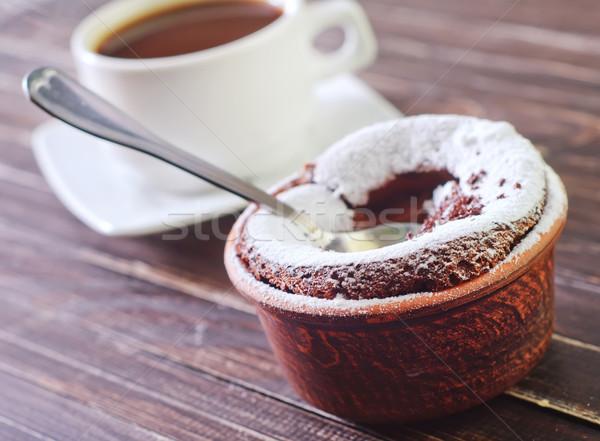 chocolate souffle Stock photo © tycoon