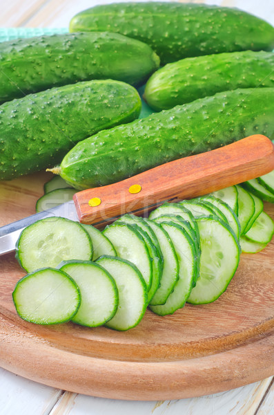 Salatalık caprese gıda doğa güzellik yaz Stok fotoğraf © tycoon