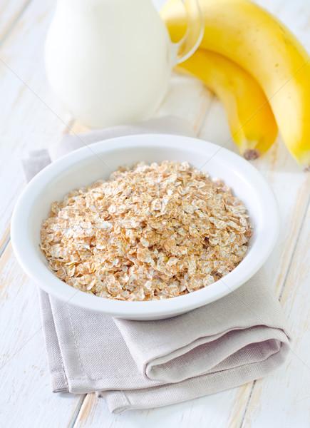 завтрак древесины здоровья фон молоко кукурузы Сток-фото © tycoon