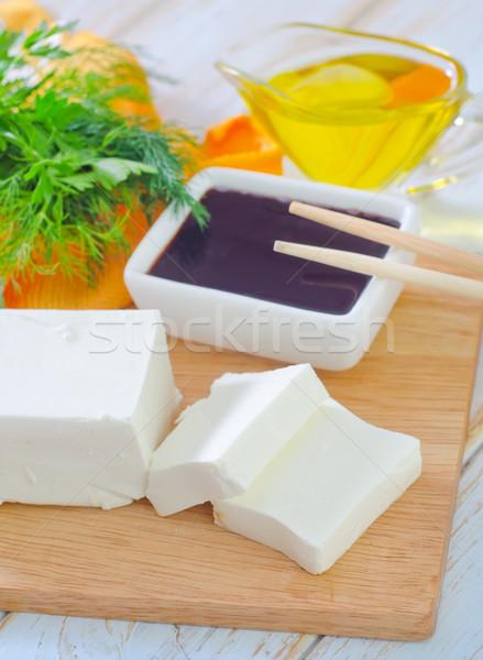 Tofu comida asiático chinês branco japonês Foto stock © tycoon