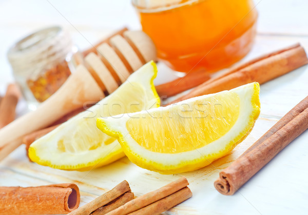 Limone frutta arancione dessert cuoco miele Foto d'archivio © tycoon