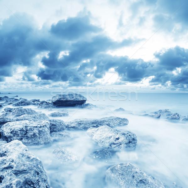 Tenger part tengerpart tájkép fény szépség Stock fotó © tycoon