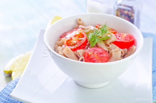 пасты томатный ресторан сыра пластина вилка Сток-фото © tycoon