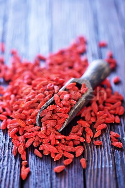 высушите красный Ягоды таблице продовольствие фрукты Сток-фото © tycoon