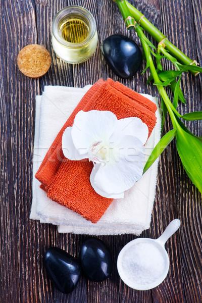 Estância termal objetos tabela massagem corpo folhas Foto stock © tycoon