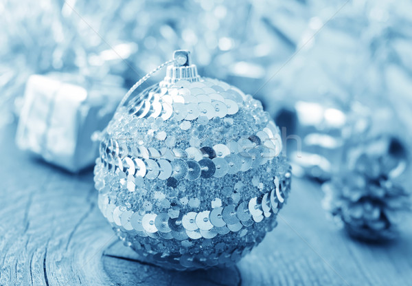 Silver balls and cristmas decoration Stock photo © tycoon