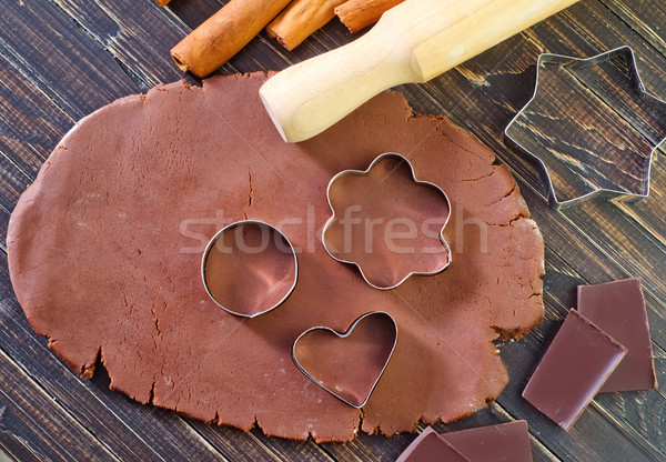 chocolate dough for cookies Stock photo © tycoon