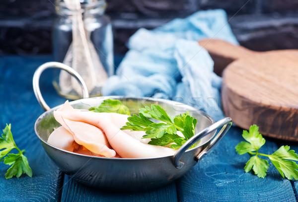 Сток-фото: пластина · таблице · фон · кухне · белый