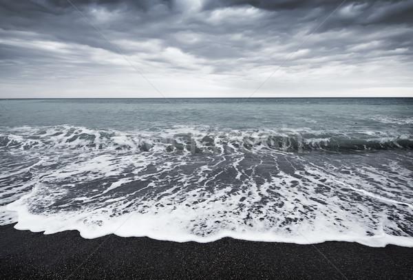 Fırtına deniz gökyüzü bulutlar hızlandırmak dalga Stok fotoğraf © tycoon