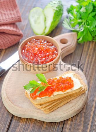 赤 キャビア パン バター 表 食品 ストックフォト © tycoon
