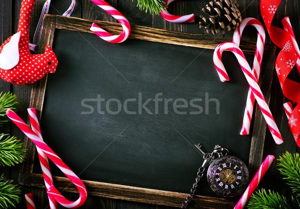 Navidad decoración nota madera espacio Foto stock © tycoon